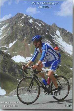 Tim climbing Tourmalet