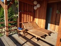 L'espace détente du sauna