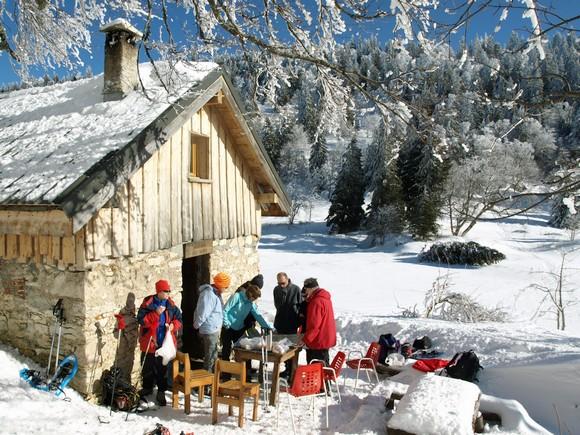 Repas en altitude en Isère