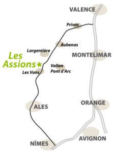 Gites en Ardèche méridionale