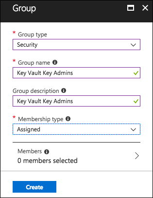 The Group blade displays with the previously defined settings entered into the appropriate fields.