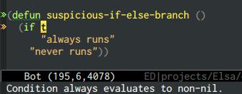 {focus_keyword} emacs-elsa/Elsa dead code 1