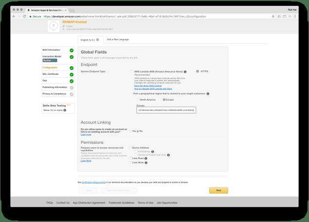 Connecting to RHMAP via AWS Lambda
