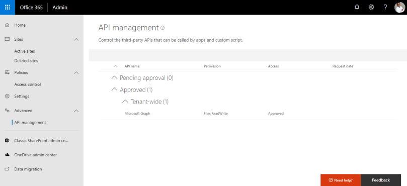 API Management - MSGraph