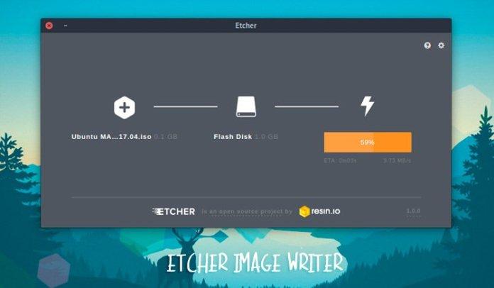 Etcher - кроссплатформенное приложение для записи образов