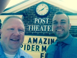 Chuck Dunlap and Clarence Leatherbury at the Post Theatre
