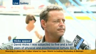 David Hicks after learning that his Guantanamo Bay conviction was overturned on 18 February 2015. (From  Sky Sydney news.)