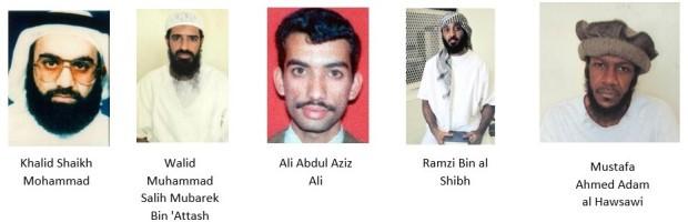 Resultado de imagem para Khalid Shaikh Mohammad, Walid Muhammad Salih Mubarek Bin 'Attash, Ali Abdul Aziz Ali, Ramzi Bin al Shibh, and Mustafa Ahmed Adam al Hawsawi