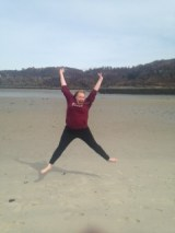 Me Jumping at the Beach 2