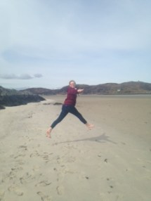 Nettie Jumping at the Beach
