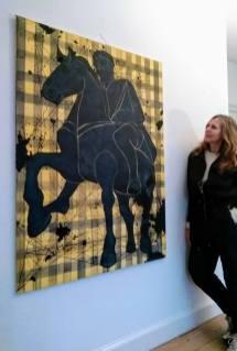 Akryl på lærred. Maleri og foto af Annette Sjølund