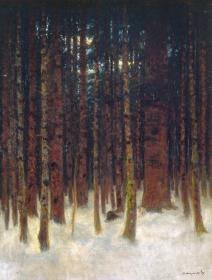 Mednyánszky László: Téli erdőrészlet
