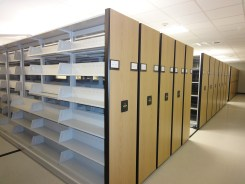Vault complete, w/ compact shelving!