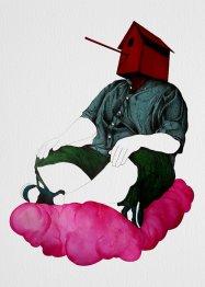 ragazzo nuvola rosa