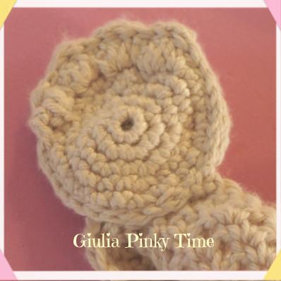 feet of the crochet teddy bear comforter