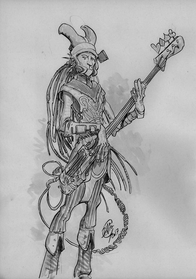 fantasy bass player comic