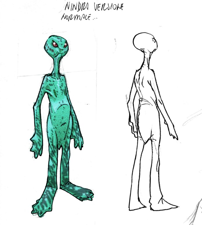"Alien concept for Disney's comic book serie ""Kylion"" by Giulio De Vita"