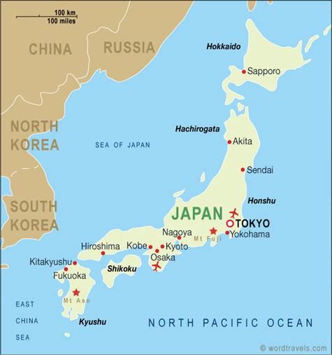 Sendai è a nord, nella regione del Tohoku