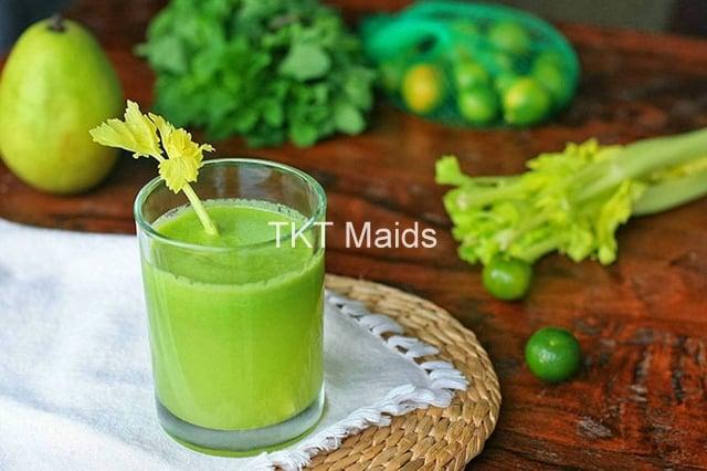 detox chủ yếu sử dụng rau củ quả tươi