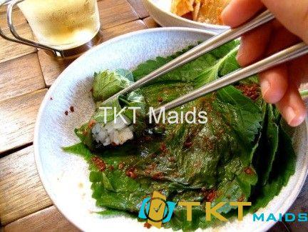 Món ăn tại Nhật dùng lá tía tô