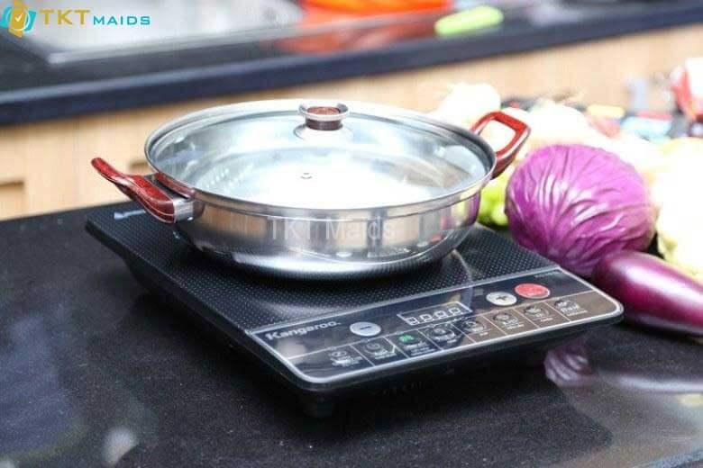 Hình ảnh: hướng dẫn sử dụng - đặt nồi trực tiếp lên bếp từ, không lót báo, vải