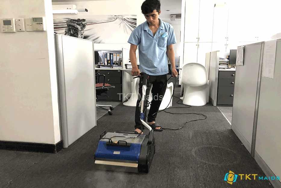Hình ảnh: Giặt thảm bằng phương pháp giặt hơi nước nóng