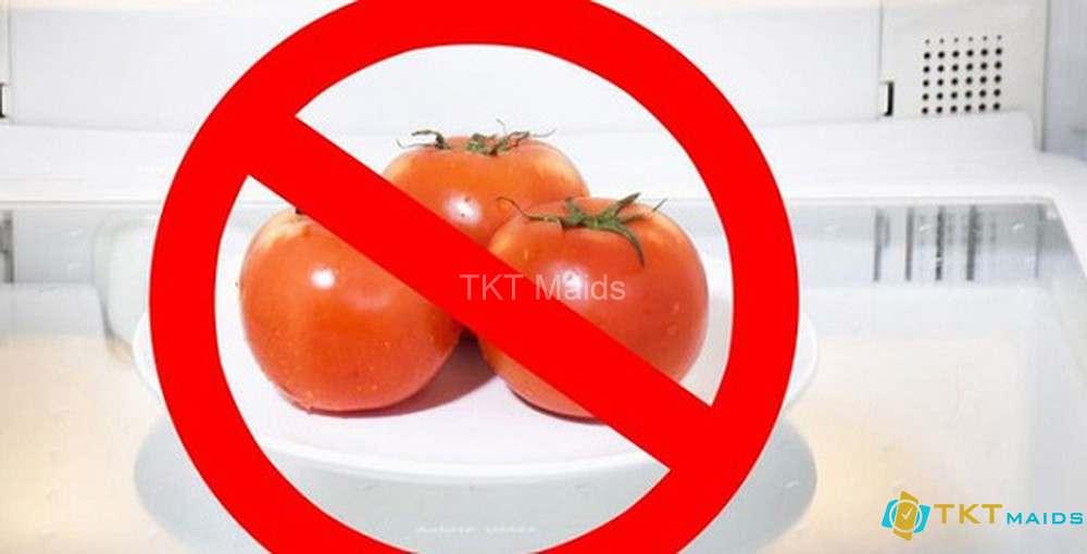 Hình ảnh: Không nên bảo quản cà chua trong tủ lạnh