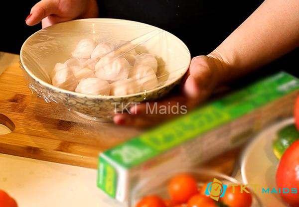Hình ảnh: hướng dẫn sử dụng mang bọc thực phẩm cho tủ lạnh