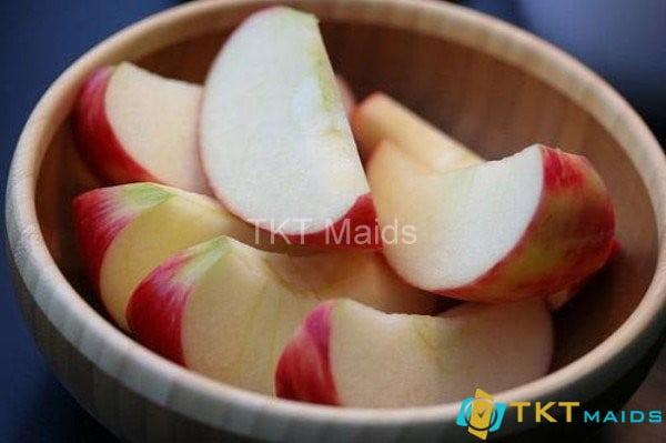 Tráng miệng với táo