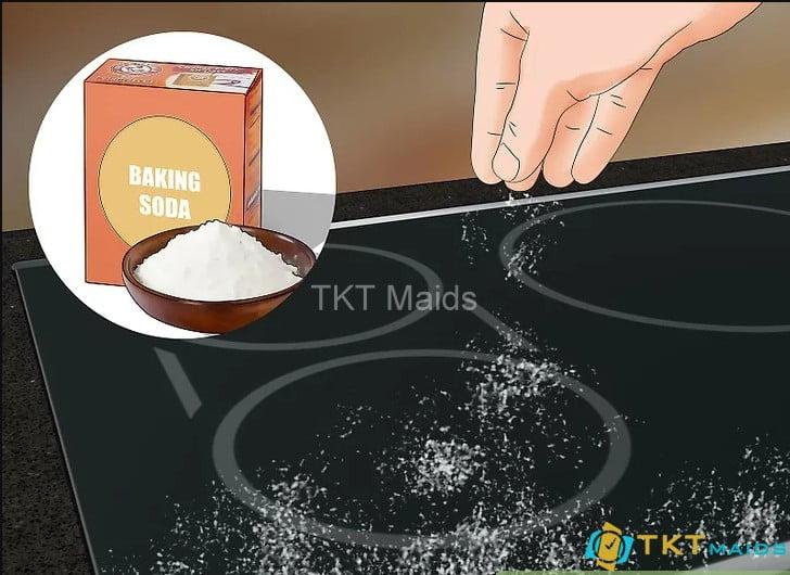 Dùng baking soda để làm sạch bếp và các khu vực xung quanh