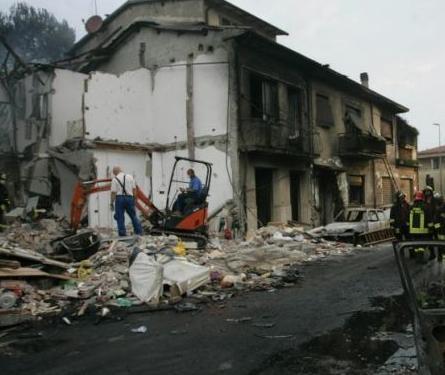 Un'immagine del terribile incidente a Viareggio