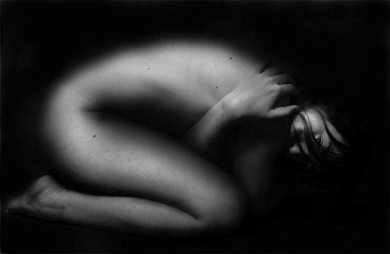 Donna con depressione