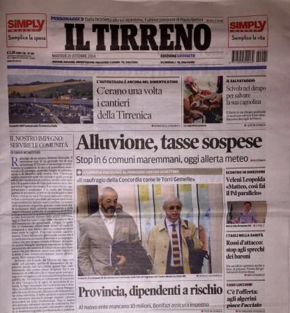 In prima pagina Il Tirreno