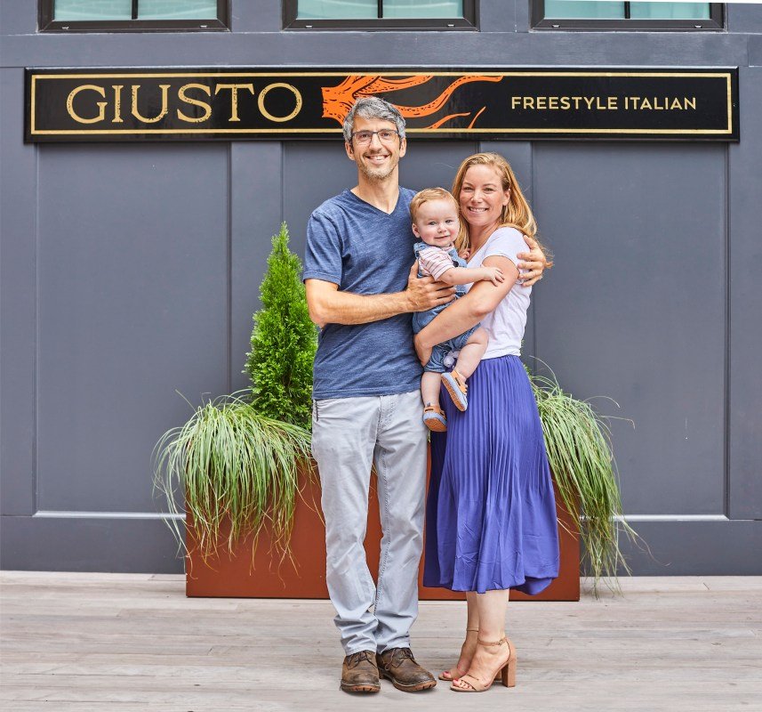 Kevin O'Donnell and Sarah Bellemore Owners of Giusto Newport