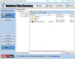 MiniTool Undelete File Recovery