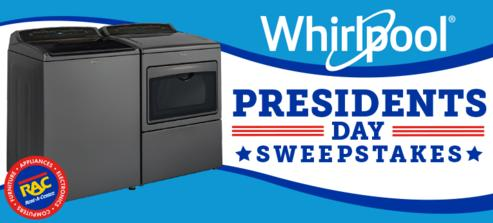 Whirlpool Presidents Day Sweepstakes – Win A Whirlpool Washer And Dryer
