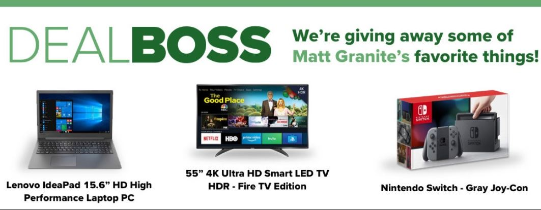 DEALBOSS Matts Favorite Things SWEEPSTAKES - Enter To Win