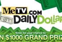 MeTV.com Daily Dollar$ Sweepstakes