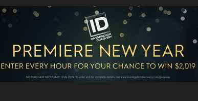 Investigation Discovery Premiere New Year Sweepstakes 2019 Codes