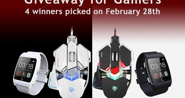EasySMX Gaming Mechanical Mouse and Smartwatch Giveaway