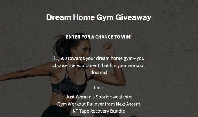 Just Womens Sports Home Gym Giveaway