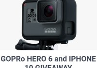 IPhone 10 and Gopro Hero 6 Giveaway