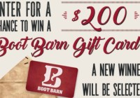 Boot Barn Holiday Sweepstakes