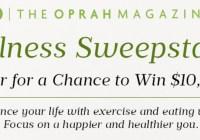 The Oprah Magazine Wellness Sweepstakes