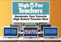 Fox 5 Atlanta High 5 For Teachers Contest