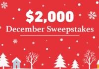 DealNews.com $2,000 December Sweepstakes