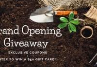 Unique Plant Pots Grand Opening Giveaway