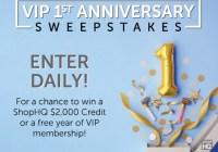 IMedia Brands ShopHQ VIP 1st Anniversary Sweepstakes