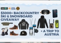 IndieGetup $3000 Ultimate Backcountry Ski Snowboard Austria Giveaway