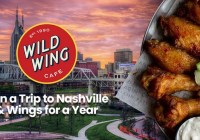 Nashville And Wings For A Year From Wild Wing Cafe Sweepstakes.